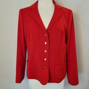 Vintage Escada Red Wool Blazer